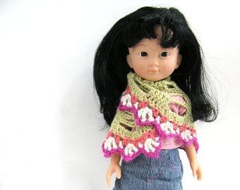 Patron de crochet pour châle poupées Les Chéries de COROLLE - seulement en ANGLAIS !!!