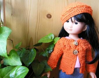 Patron de crochet pour vêtements pour poupées de 32-35 cm comme les Chéries - Zoé - PDF