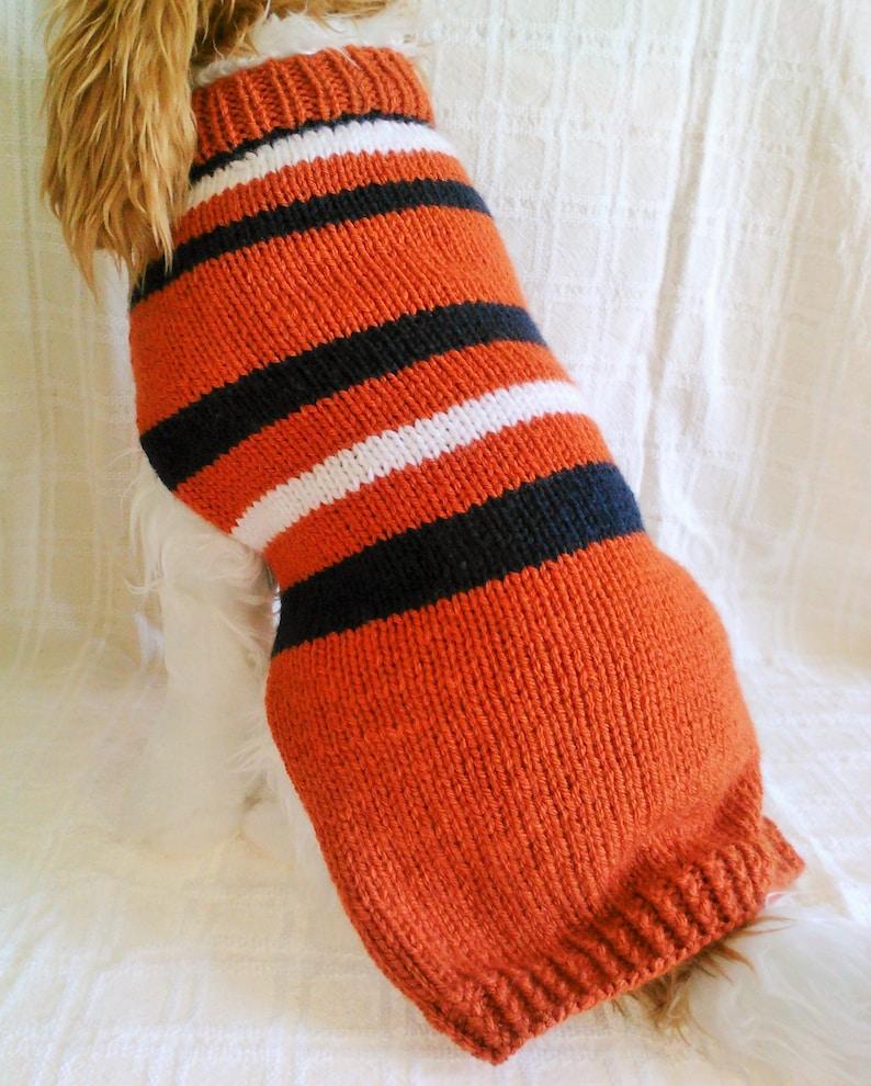 innovative design 90257 c61ff Go Team!! Dog Sweater / Handknit / Dog Clothing /Broncos/NFL/3 Sizes