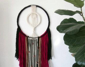 Macrame fiber art, Large macrame wall hanging, Bohemian Decor,  Wall tapestry, Rope art, Macrame wall art, Yarn Wall Hanging, modern art