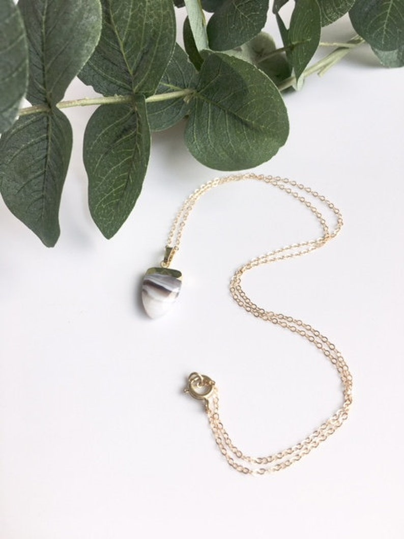 Petite Botswana Agate Crystal Healing Necklace
