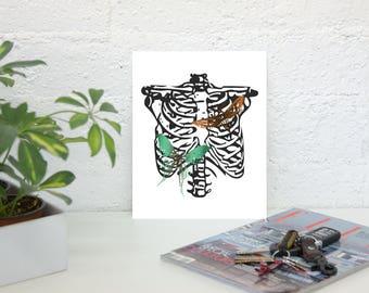 Moth ribs INSTANT DIGITAL DOWNLOAD