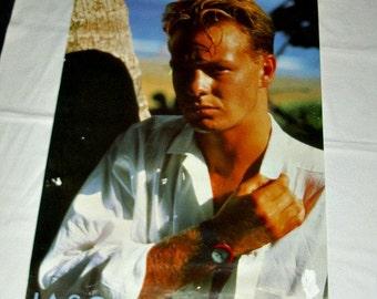 Rare Jason Donovan Giant Athena Poster Music Memorabilia Australian Actor Singer Pop Star Aussie Neighbours Scott Robinson Oz Beach Sun Surf