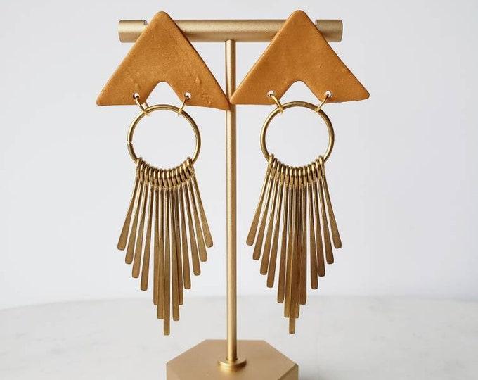 Fringe | Polymer Clay Earrings | Boho | Minimalist | Clay Earring