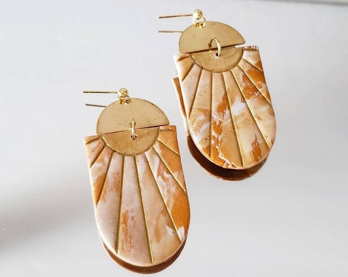 Sunrise Earring | Polymer Clay Earrings | Boho | Minimalist | Clay Earring