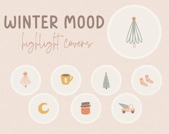 Winter Mood Instagram Story Highlight Icons / Highlight Icons / Instagram Story Highlight / Social Media Icon / Instagram Highlight