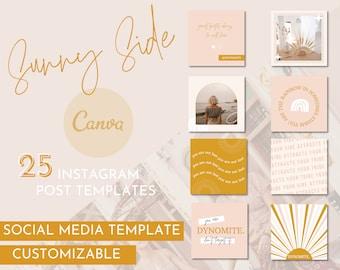 Sunny Instagram Template / Vibrant Social Media Pack / Sunny Instagram Template