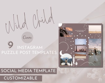 Wild Child Puzzle Instagram Template / Essential Oil Social Media Pack / Young Living Branding / Do Terra Branding / Essential Oil Branding