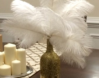 Art Deco - Roaring Twenties - Vintage - Great Gatsby Wedding/Party/Event  Ostrich Feather Centerpiece