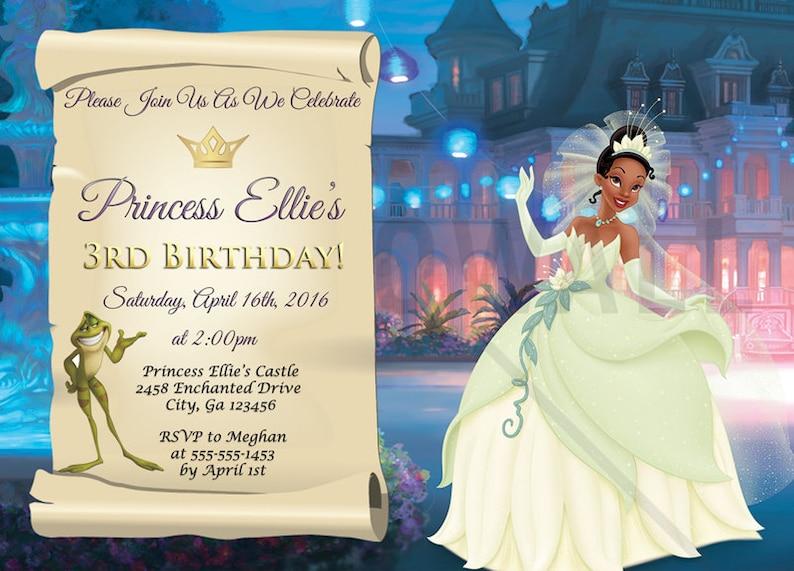 Princess And The Frog Invitation Tiana Invite