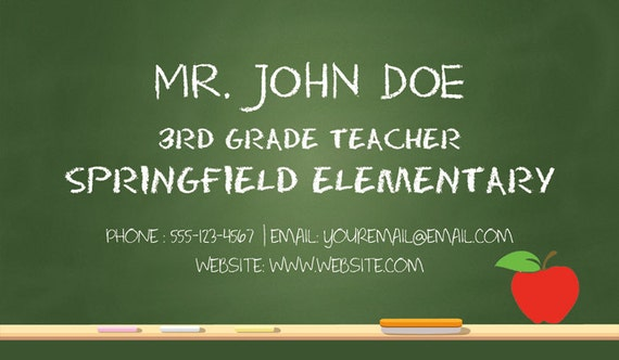 image 0 - Substitute Teacher Business Cards