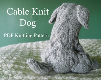 Knitting Pattern - Cable Knit Dog