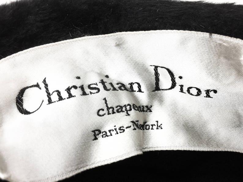 087d407f993 Vintage mid century authentic Christian Dior black fur felt