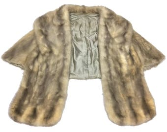 Glamorous midcentury mink fur stole