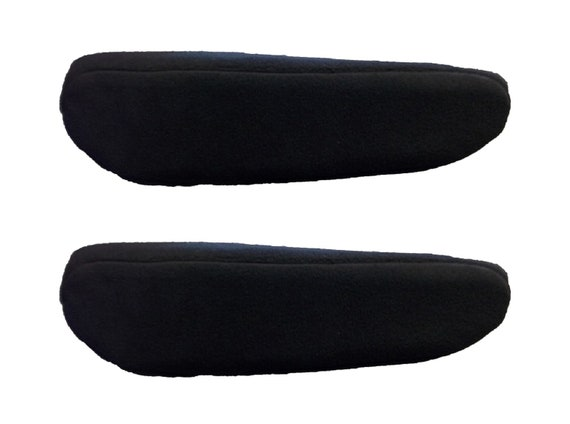 Car Console Covers Plus Made in USA Pair of Fleece Armrest Covers for Pull Down Armrests Designed to fit Dodge Caravan Models 2016-2019 Black