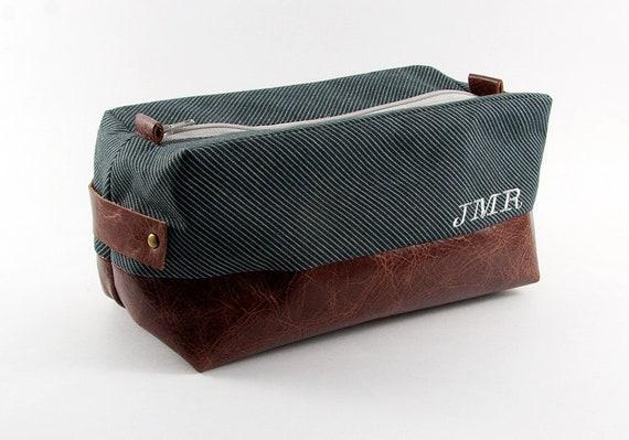 Personalized Men s Toiletry Bag Dopp Kit Travel   Etsy a2fb12f736