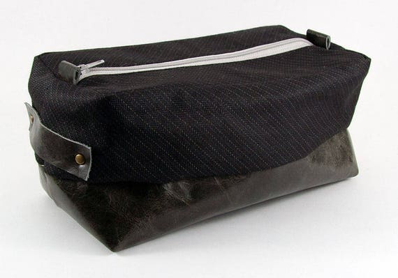 8be8e3bdf75 Compact Men s Toiletry Bag Dopp Kit Travel Kit Dopp Bag   Etsy