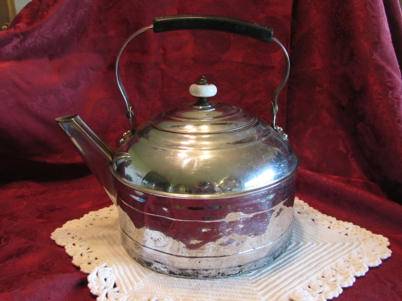 Revere Ware Stainless Water Kettle Kitchen Decor Water Kettle Cookware Stainless Steel Plated Copper Water Kettle