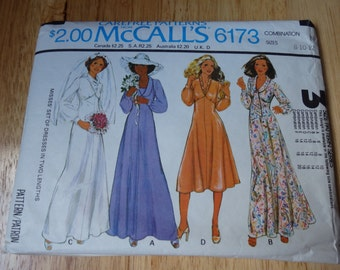 McCall's Carefree Wedding/Bridesmaid Gowns Patterns Set of 2 Sizes (12-14-16) (8-10-12) Cut sold together or seperate