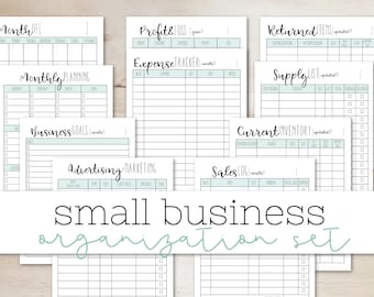 Editable (fillable) Small Business Planner - Expense Tracker - Etsy Shop Planner - Inventory Lists - Sales Log Printable PDF Insert