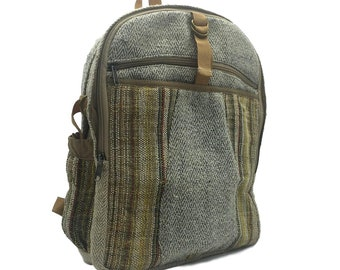 575af9c1abae Rare Hemp Backpack. Beautiful Made with all Natural Hand Wooven Organic  Hemp Fabric.