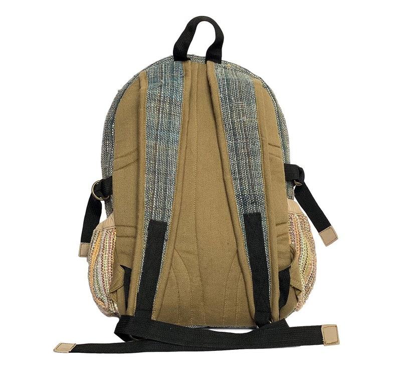 Eco Friendly Bag Hand made Hippie Hemp bag Colorful Hemp Festival Backpack Tibetan backpack