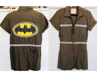 Batman Work Zip Jumpsuit Romper  - Size M/L