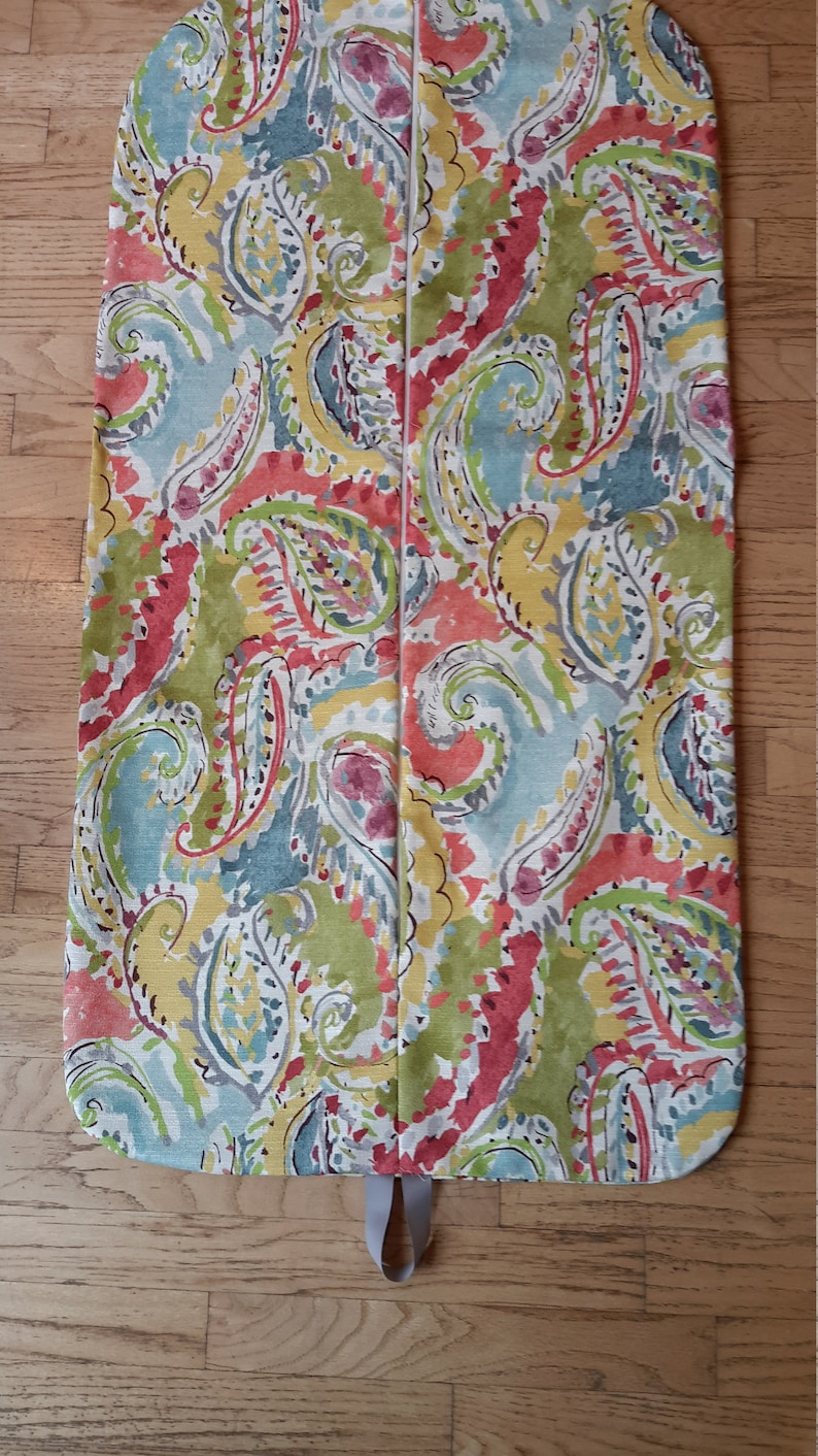 Weekender Coral Paisley Hanging Garment Bag Garment Bag