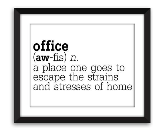 funny office definition print humorous work poster gift for etsy
