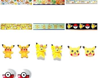 Pokemon theme 25mm...1 Meter.Pikachu Ribbon Pokemon ribbon