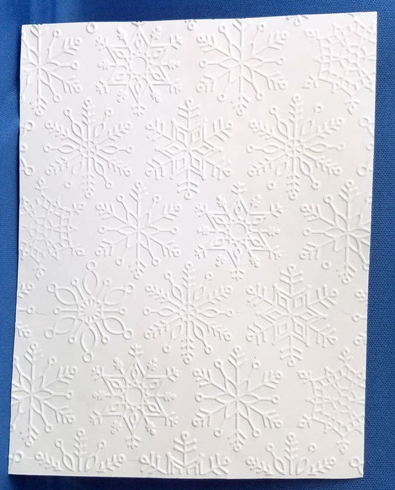 10 SNOWFLAKES White Embossed A2 Card Fronts Recollections Cardstock Paper
