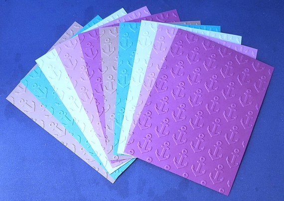 MIXED BULK LOT of 10 Embossed A2 Card Fronts Recollections Cardstock Paper