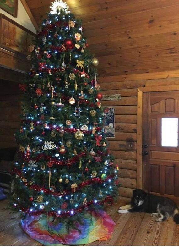 Christmas Tree Skirt Handmade Tie Dye You choose colors and | Etsy