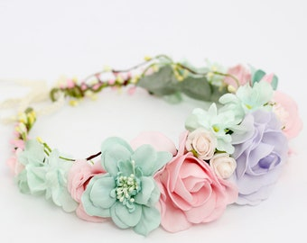 Pastel Flower Crown Wedding aa6fd6ab13b