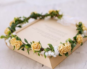 Yellow flower crown  2041c003820