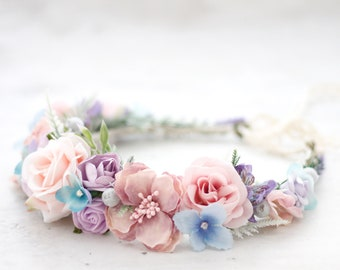 Pastel flower crown wedding 4029a531fc2