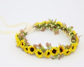 Yellow Flower Crown Etsy
