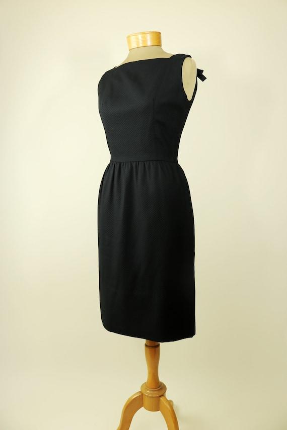 60's Lanz Original Black Fitted Dress
