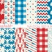 Maria Solano reviewed Red and Blue Nautical Digital Paper with Lobster, Shark, Oar, Patterns, 4th of July Background