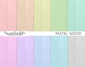 Pastel Wood Digital Paper, Commercial Use, Digital Wood Texture, Distressed Wood, Painted Wood Background. Shabby Wood Paper