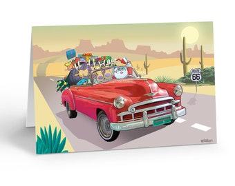 All American Santa 18 Christmas Cards and Envelopes 40035