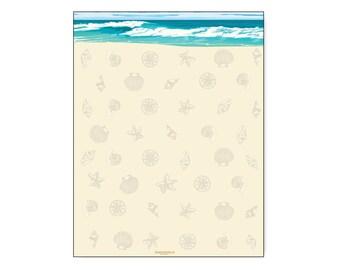 beach letterhead etsy