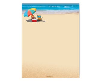 beach stationery etsy