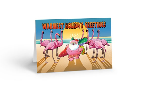 Beach Christmas Cards >> Too Much Sun Funny Christmas Card 18 Cards Envelopes Beach Christmas Cards 30039