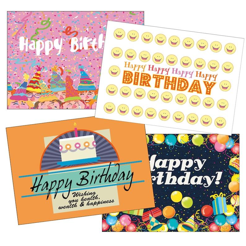 36 Bulk Value Pack Birthday Card Assorted Set Of