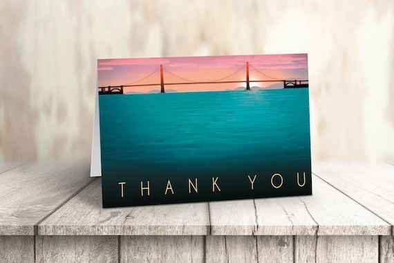 Golden Gate Note Card Set 4 1//4 x 5 1//2 in 14236 10 Boxed Note Cards