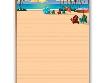 Beach Themed Note Pad - Set of 2 Notepads - 35023