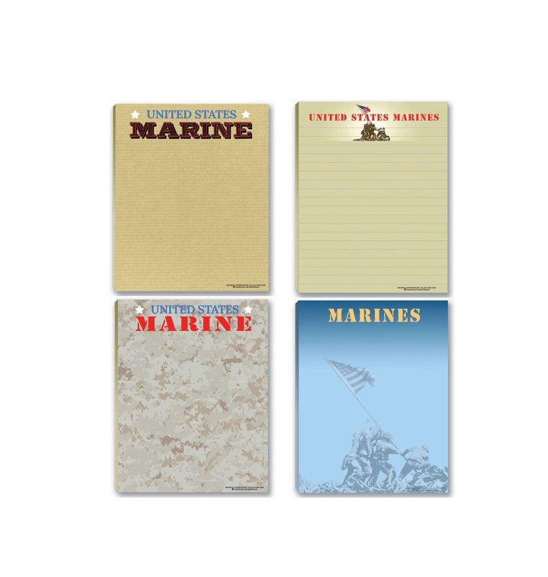 63bb49e8bc5f Marine Corps Notepads - 4 Assorted USMC Note Pads - Military - Armed Forces  - Semper Fi - 629