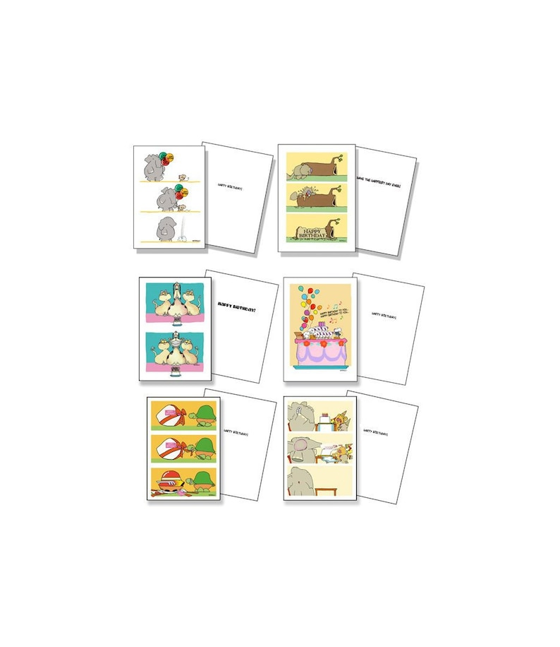 Cute Assorted Kids Birthday Card Pack Set Of 12 Bithday