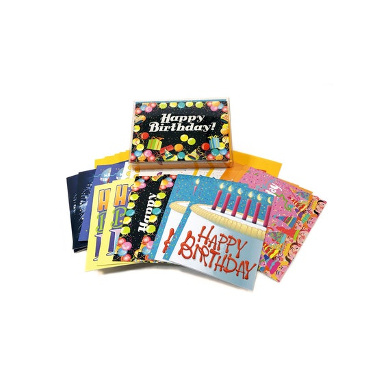 24 Bulk Value Pack Birthday Card Assorted Set Of Cards